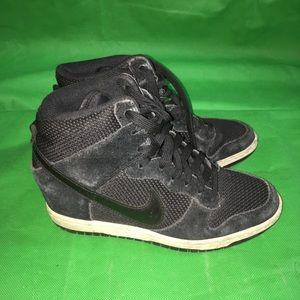 Nike Dunk Sky Hi Black Suede Size 6.5